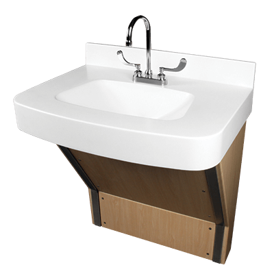 The Willoughby BHS-3123 ADA-Compliant Solid Surface Bariatric Sink (Lavatory) is a single-user solid surface sink fixture for use in bariatric environments.