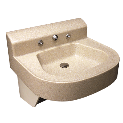 The Willoughby WBL-2320 Solid Surface Behavioral Healthcare Lavatory is a single-user fixture with an anti ligature faucet for healthcare environments.