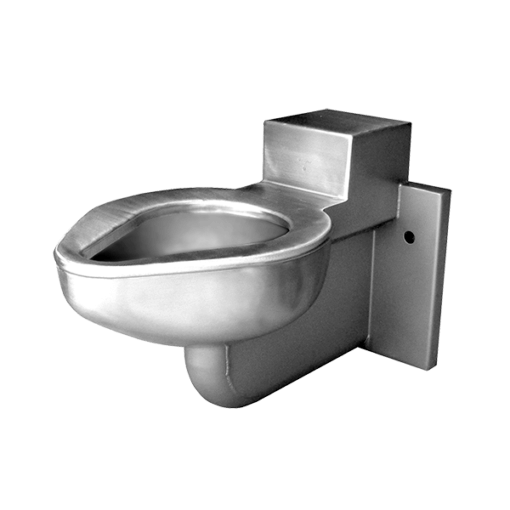 This 3 bolt wall hung toilet is designed for security environments with an accessible mechanical chase.