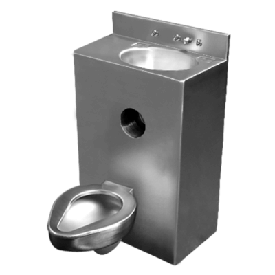 "Willoughby 2096-Series 20"" Offset Toilet Combination Lavatory Toilet is a single-user fixture."