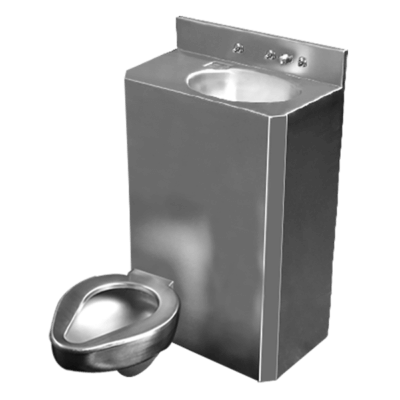 "26"" Wide Combination Unit (toilet/lavatory) with offset toilet bowl"