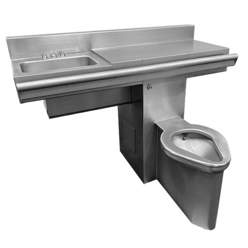 """Willoughby 48"""" Willoughby Combination Unit (4896-FA-Series) is a Handicap-ADA Front Access Combination Lavatory/Toilet Unit for use on a 90-degree wall."""