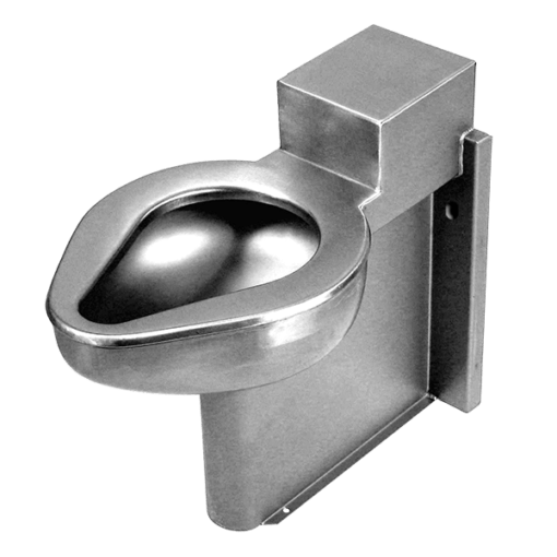 Willoughby's ETW-1490-FM-RPF is a robust, stainless steel floor mounted toilet engineered for security environments with an accessible mechanical chase.