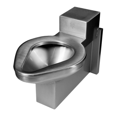 The ETW-1490-OF model is an off floor mounted steel toilet perfect for security environments with an accessible mechanical chase.