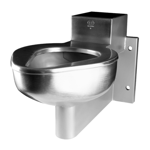 ETWS-1490-CM is a 4 Bolt Toilet System engineered for security environments with an accessible mechanical chase.