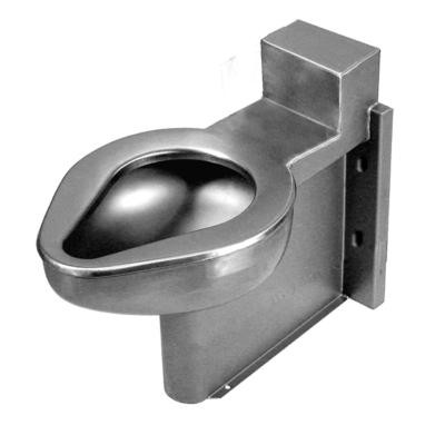 The ETWS-1490-FM-FA jail toilet is intended for environment without an accessible mechanical chase.