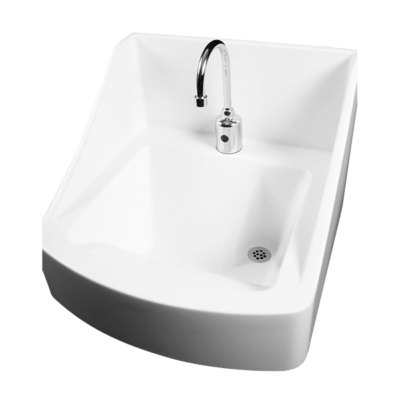 The Willoughby WICS-2222 Infection Control and Prevention Handwash Sink is designed to minimize the spread of disease in healthcare environments.