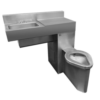 "36"" Wide Handicap-ADA Front Access Combination Lavatory/Toilet Units"