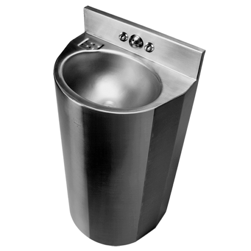 ASHS-1013-06 Stainless Steel 18″ Wide Rear Mounted Ligature-resistant Lavatory