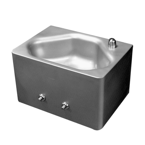 Willoughby CHS-1013-46 Rear Mounted, China Alternative Lavatories are stainless steel bathroom sinks for use in security environments.