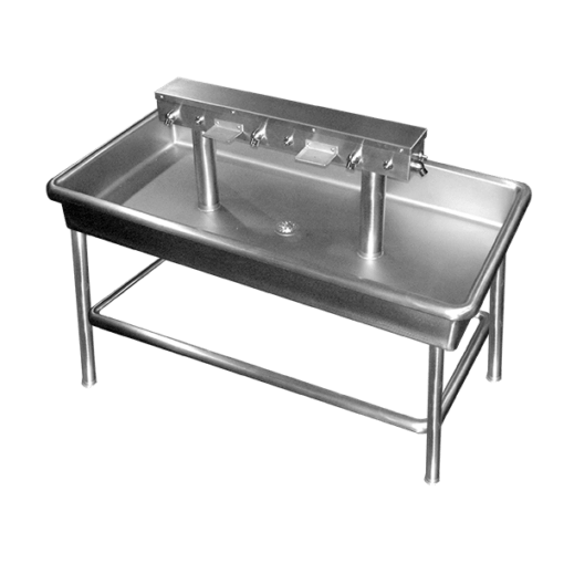 Willoughby CWIS-Series Commercial Stainless Steel Sinks are multi-user, stainless steel island sink fixtures for vandal-resistant commercial use.