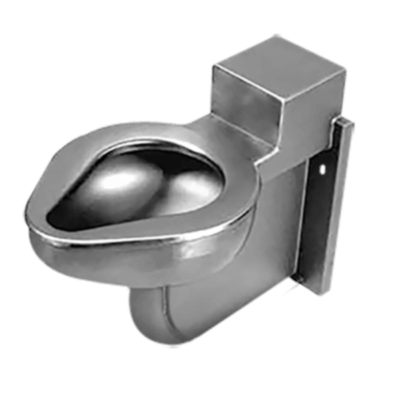 Willoughby's ETWS-1490-OF models are wall hung toilets designed for an institutional, stainless steel bathroom with an accessible mechanical chase.