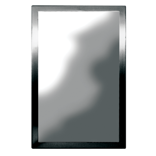 The Willoughby FMR1 Security Mirror is fabricated from 16 gauge, Type 304 stainless steel.