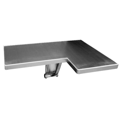 The Willoughby FSS-Series Folding Shower Seat is a fabricated stainless steel accessory.
