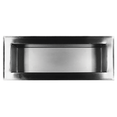 The Willoughby RS line of Recessed Shelf Fixtures (models: RS1 and RS2) are all-welded 16 gauge, Type 304 stainless steel shelves.