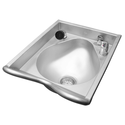 Willoughby SB-1823 Stainless Steel Barber Shampoo Bowls are designed for commercial use.