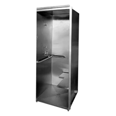 Willoughby US/KS-3636-HC Cabinet Handicap Accessible Shower Units are ADA-compliant single-user, barrier free shower stall fixtures.