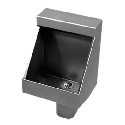 UW-1814-WO Single Person Rear Mounted Washout Flush Trough Urinal