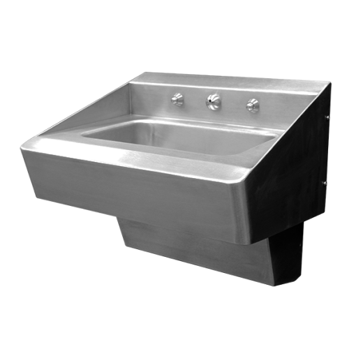 The Willoughby WBLS-2018- HC-FA Ligature resistant, Front Access, Stainless Steel Bathroom Sink (Behavioral Lavatory).